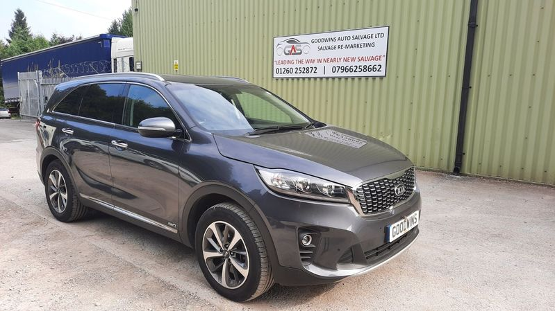 KIA SORENTO 2019 KIA SORENTO KX-2 CRDI 2.2 4X4 UNRECORDED DAMAGED REPAIRABLE SALVAGE