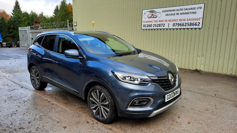 RENAULT KADJAR S EDITION 1.3 TCE UNRECORDED DAMAGED REPAIRABLE SALVAGE