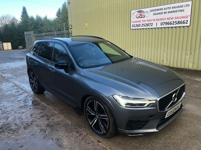 VOLVO XC60 2019 69 VOLVO XC60 R-DESIGN PRO T5 AUTO UNRECORDED DAMAGED REPAIRABLE SALVAGE